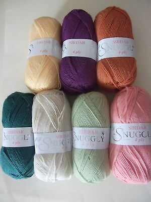 Five x 50g Balls of Sirdar Snuggly 4ply Baby Wool/Yarn for Knitting/Crochet