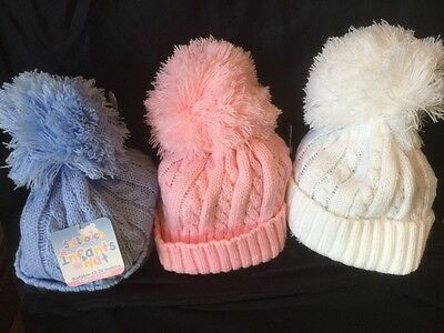 Baby Hats big POMPOM Soft Touch €4.99 Trendy Baby Cable Knit  summer or winter