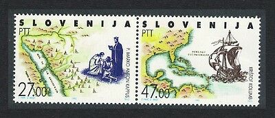 Slovenia Discovery of America by Columbus 2v pair SG#157/58