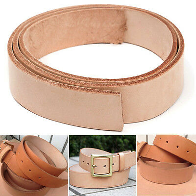 Leather Belt Strap Natural Veg Tan Shelves Handles Craft Cow Hide Semi-Finished
