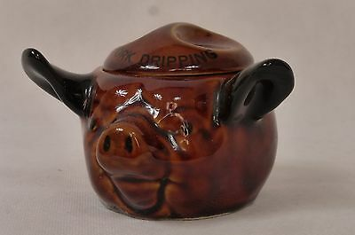 SZEILER STUDIO POTTERY - PORK DRIPPING POT and LID