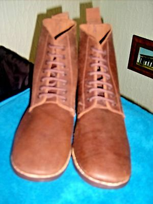 WW1 British B5 Brown Leather Ankle Boots 13uk