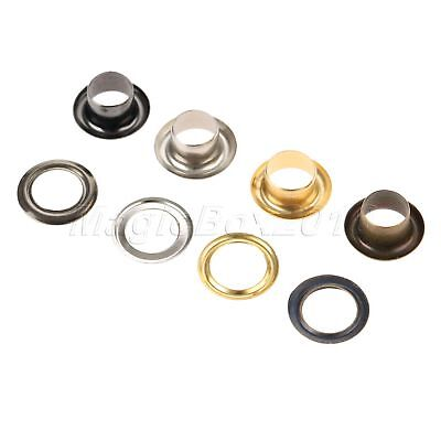 Leather Craft Rivets Findings Through Nuts Hollow Rivets Grommet Metal 5mm 100PC