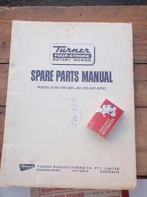Turner rotary Mower   Spare Parts Catalogue
