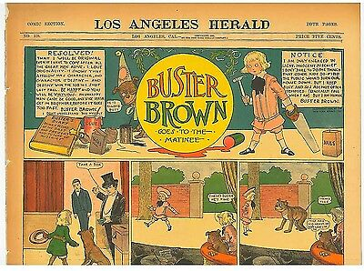 Buster Brown goes to the Matinee Original Comic 1904 R F Outcalt