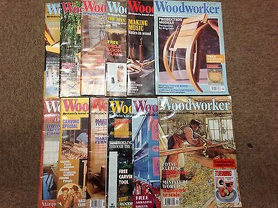 Woodworker magazine, 1991, 12 issues, job lot