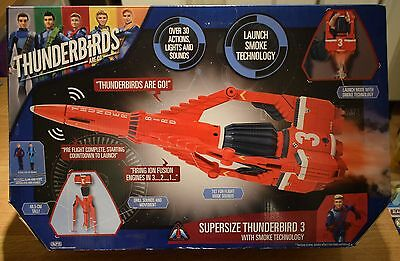 Supersize Thunderbirds 3 With Smoke Technology 30 Actions Lights & Sounds
