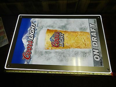 "Digital Draft Sign  Coors Light  # 30563 with changable poster 18"" x 28"" overall"