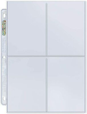 30 x ULTRA PRO 4 POCKET PLATINUM SERIES SLEEVES PAGES LARGE CARDS POSTCARDS