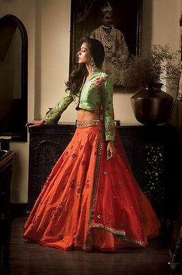 Indian Designer wedding party wear lehenga Bridal Bollywood lengha choli set_A24