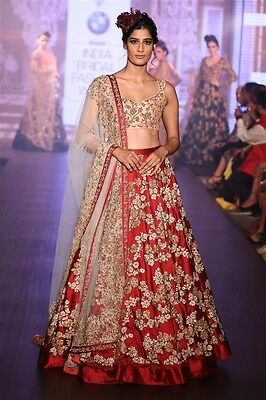 Indian Bollywood Designer wedding party wear lehenga Bridal lengha choli set_A25