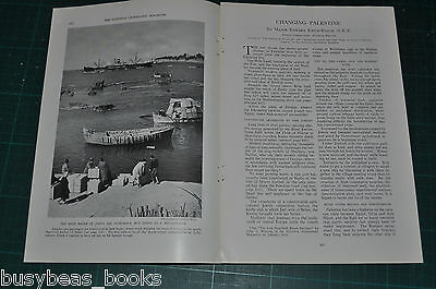 1934 magazine article PALESTINE, pre-WWII, history people etc