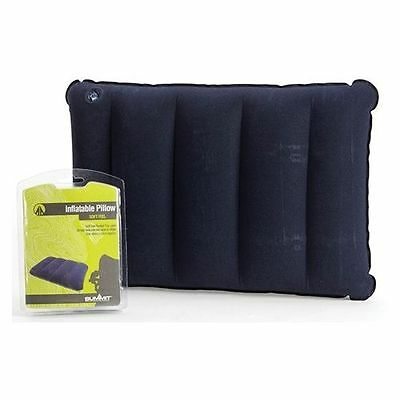 Summit Inflatable Camping Pillow Soft Feel 40cm x 27cm x 8.5cm