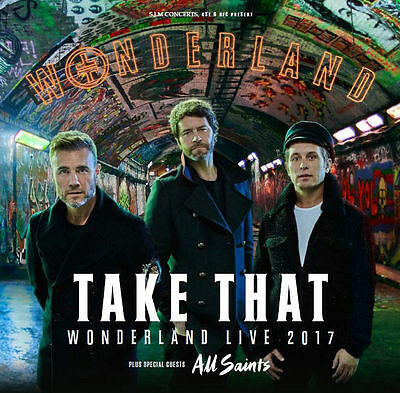 Take That Wonderland Live 2017 + All Saints Fridge Magnet Exclusive Fan Souvenir