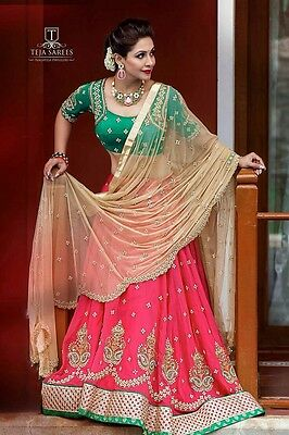 Indian wedding party wear Bollywood Designer lehenga Bridal lengha choli set_A31