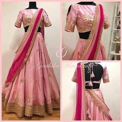 wedding party wear Designer Indian Bollywood lehenga Bridal lengha choli set_A33