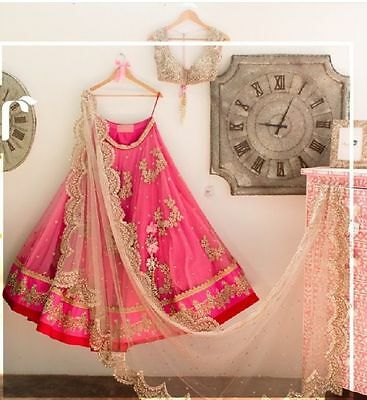 Indian wedding party wear Designer Bollywood lehenga Bridal lengha choli set_A34