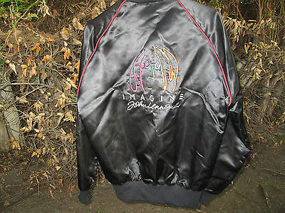IMAGINE Vintage 1988 JOHN LENNON Film Crew Promo Satin Jacket THE BEATLES