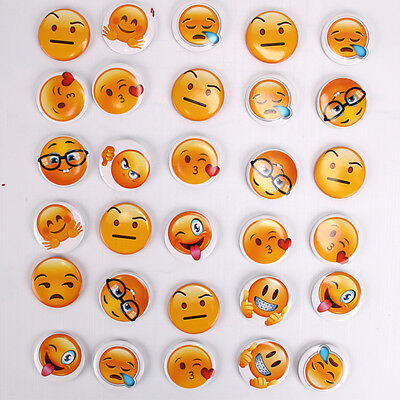 Lots Emoji Boys And Girls Smiley Party Badges Button Pins Birthday Party Gift