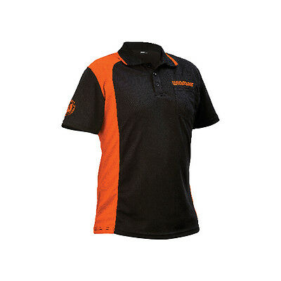 WINMAU WINCOOL 2 DARTS SHIRT - Black & Orange - Many Sizes