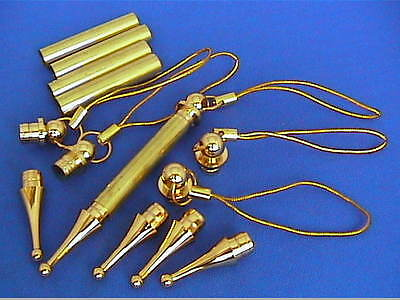 Woodturning Lathe Christmas Tree Decoration Kits Kits x 5 - Chrome/Gold - XMAS