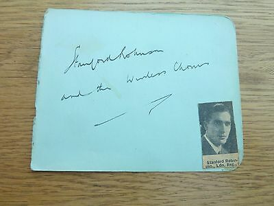 Original Hand Signed Autograph Book Page Stanford Robinson Conductor & Composer