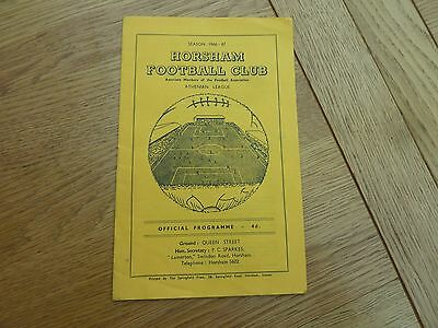 1967 March 11 Horsham V Haywards Heath Football Programme Sussex Senior Cup