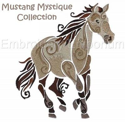 Mustang Mystique Collection - Machine Embroidery Designs On Cd