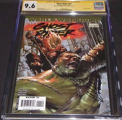 Ghost Rider 12 CGC SS 9.6 SIGNED By Gabrielle Dell'Otto World War Hulk Very Rare