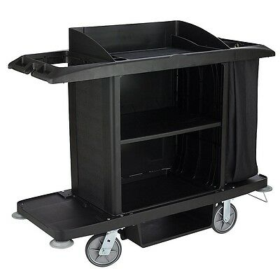 Rubbermaid Commercial Products Full-Size Housekeeping Cart Black