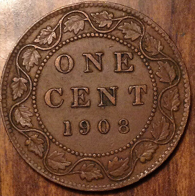 1908 Canada Large 1 Cent In Superb Condition