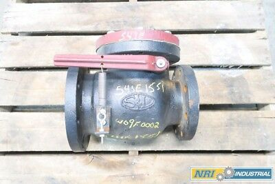 New Smith & Loveless 4X6In 200 Wog Iron Flanged Swing Gate Check Valve D564094