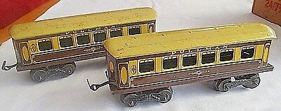 2 Pre War O Gauge Tin Plate Pullman Coaches