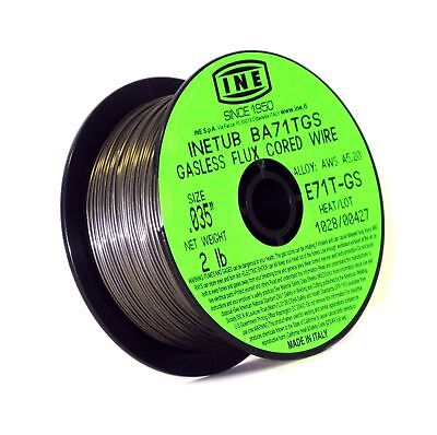 INETUB BA71TGS .035-Inch on 2-Pound Spool Carbon Steel Gasless Flux Cored Wel...