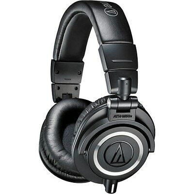 Audio-Technica ATH-M50x Sound-Isolating Monitor Headphones (Black)