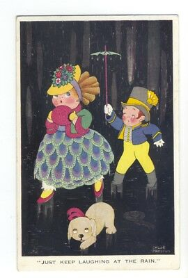 ch0054 - Children - Just Keep Laughing At The Rain - Chloe Preston - postcard
