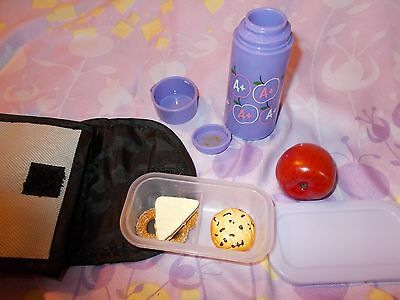 New My Twinn Or American Girl  Lunch Sack with Thermos & Food