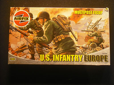 Soldatini Toy Soldiers Airfix Kit Montaggio US Infantry-Europe plastica sc 1:32