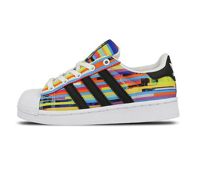 adidas Superstar Kids Rainbow Coloured Trainers Shoes