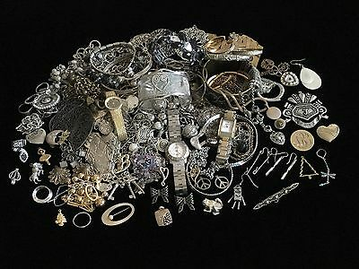 Jewelry Junk Drawer Steampunk Metal & Misc Parts Crafting Lot #16