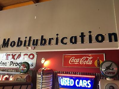 Mobilubrication Porcelain Letter Set Mobiloil Gas Oil Sign Socony Signs