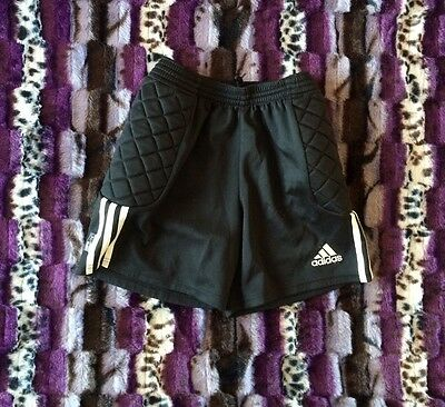 Mens Adidas Padded Goalkeeper Shorts Pants Goalie GK Rugby
