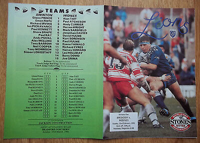 SWINTON v WIDNES  23/02/92  EXCELLENT