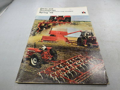 International Harvester Spring 1972 Parts and Accessories Catalog