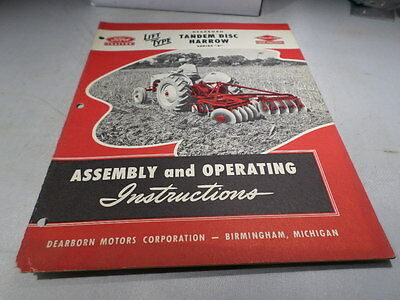 Ford Tractor Tandem Disc Harrow Series E Assembley and Operating Instructions