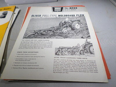 Oliver NO 4240 2 3 Bottom Pull Type Moldboard Plow Brochure