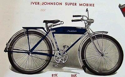 classic 1936 Iver Johnson Bicycle CATALOG of antique bikes