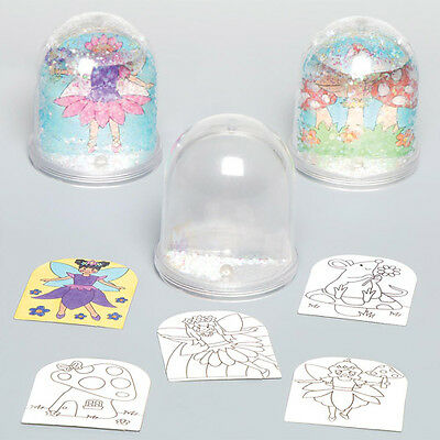 4 Fairy Colour-in Snow Globes for Children to Make - Creative Kids Craft Toy Set