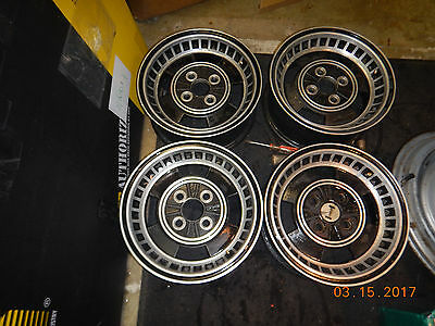 1972 JENSEN HEALEY SET OF WHEELS 4 on 4'' AUSTIN CROSLEY MG OPEL VEGA 72 4-LUG