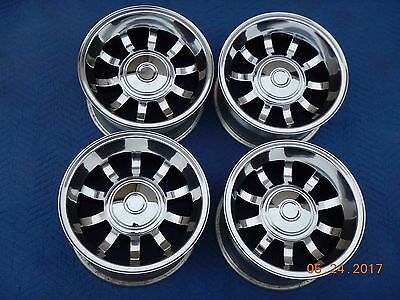 VINTAGE POLISHED 15 x 8.5 BULLET WHEELS FORD TRUCK JEEP 4x4 SAMURI 70's VAN NICE